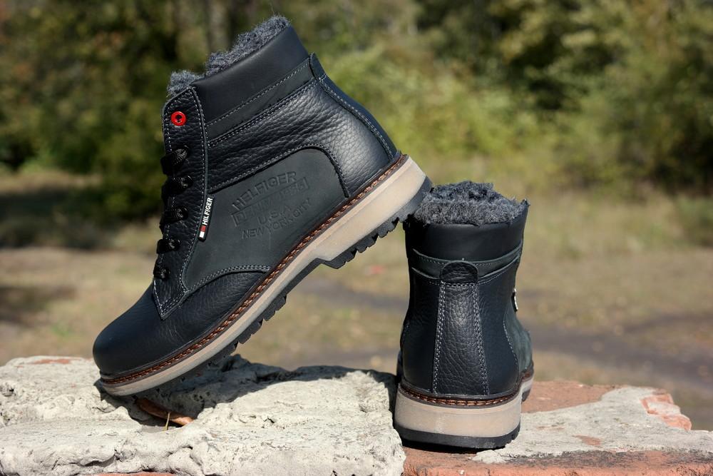 Подростковые зимние кожаные ботинки , густой мех, молния и толстая кожа. в наличии фото №11