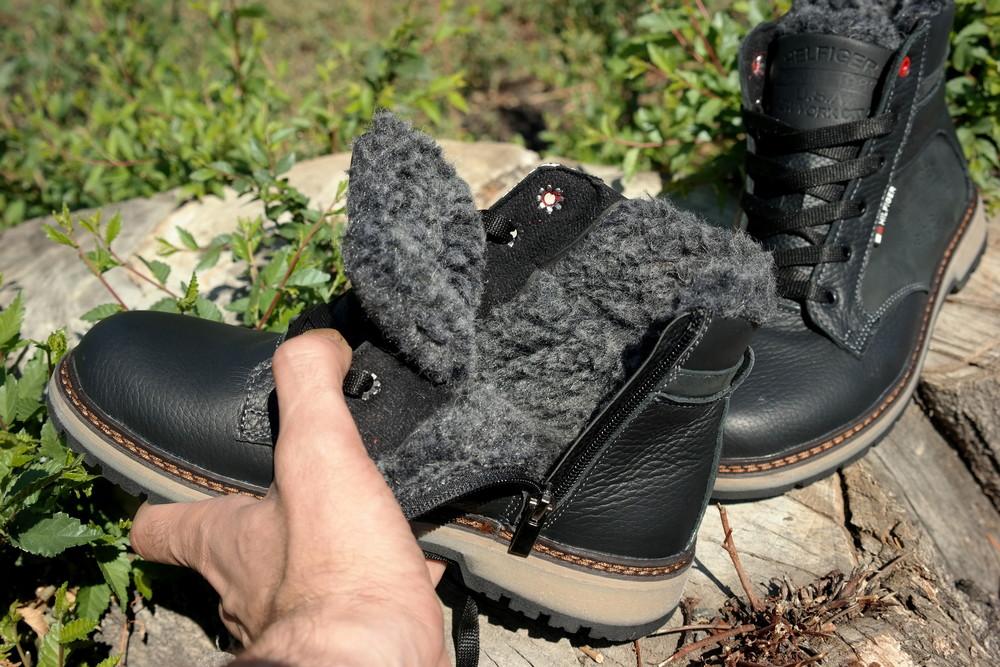 Подростковые зимние кожаные ботинки , густой мех, молния и толстая кожа. в наличии фото №13