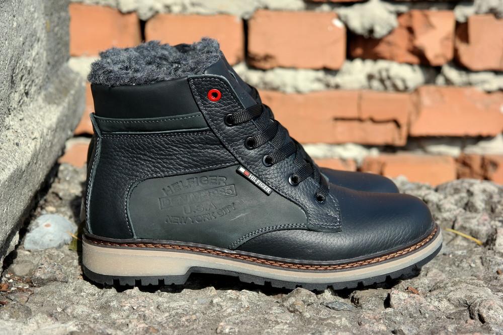 Подростковые зимние кожаные ботинки , густой мех, молния и толстая кожа. в наличии фото №8