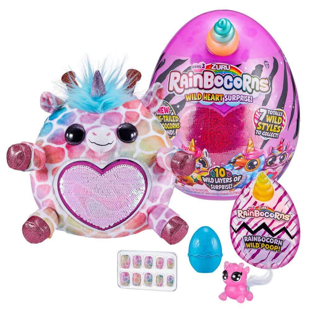 Мягкая игрушка сюрприз zuru rainbocorns wild heart surprise фото №1