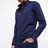 Синяя мужская рубашка De Facto / Де Факто с синими пуговицами