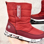 Зимние женские ботинки Situo Snowboot burgundy