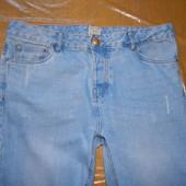 W36 L32, поб 50-52, узкачи! джинсы потертые с отворотом Denim Co  хорошее состояние, из недостатков