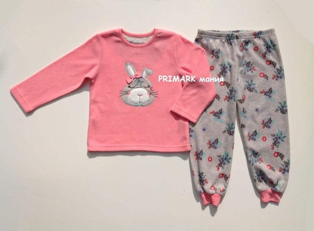 Флисовая пижама для девочки (2-7 лет) primark. читать описание! фото №1