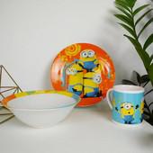 """Детская керамическая посуда """"Миньоны"""""""