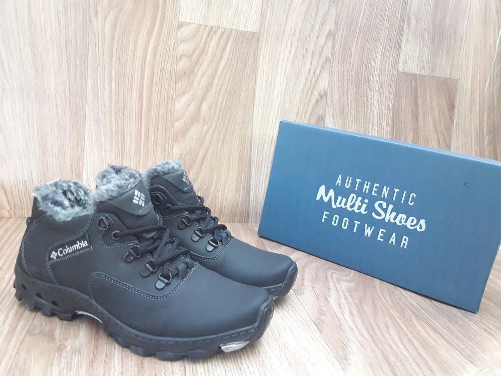 eee0cd4b Мужские зимние ботинки columbia classic boots кожаные черные прошитые фото  №1