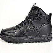 Зимние кроссовки Nike Lunar Force 1 black
