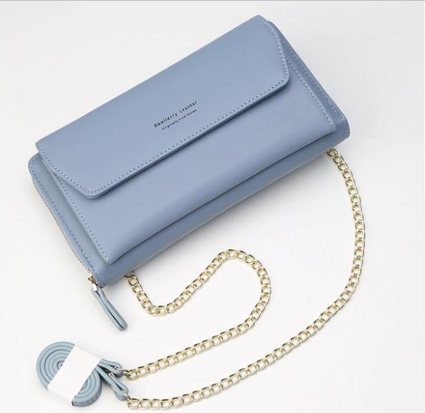 Женский клатч сумочка baellerry leather blue фото №1