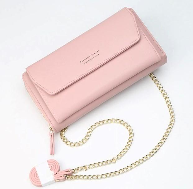 Женский клатч сумочка baellerry leather pink фото №1