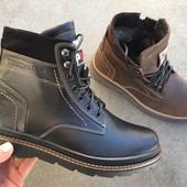 Зимние ботинки, натуральная кожа, 2 цвета