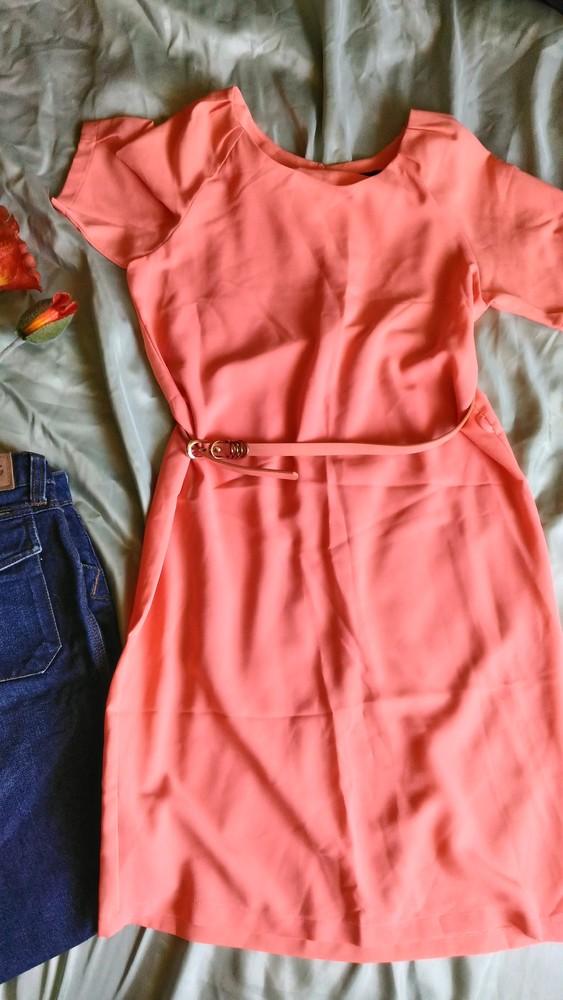 Нежное летнее платье с пояском kira plastinina, р-р s фото №1