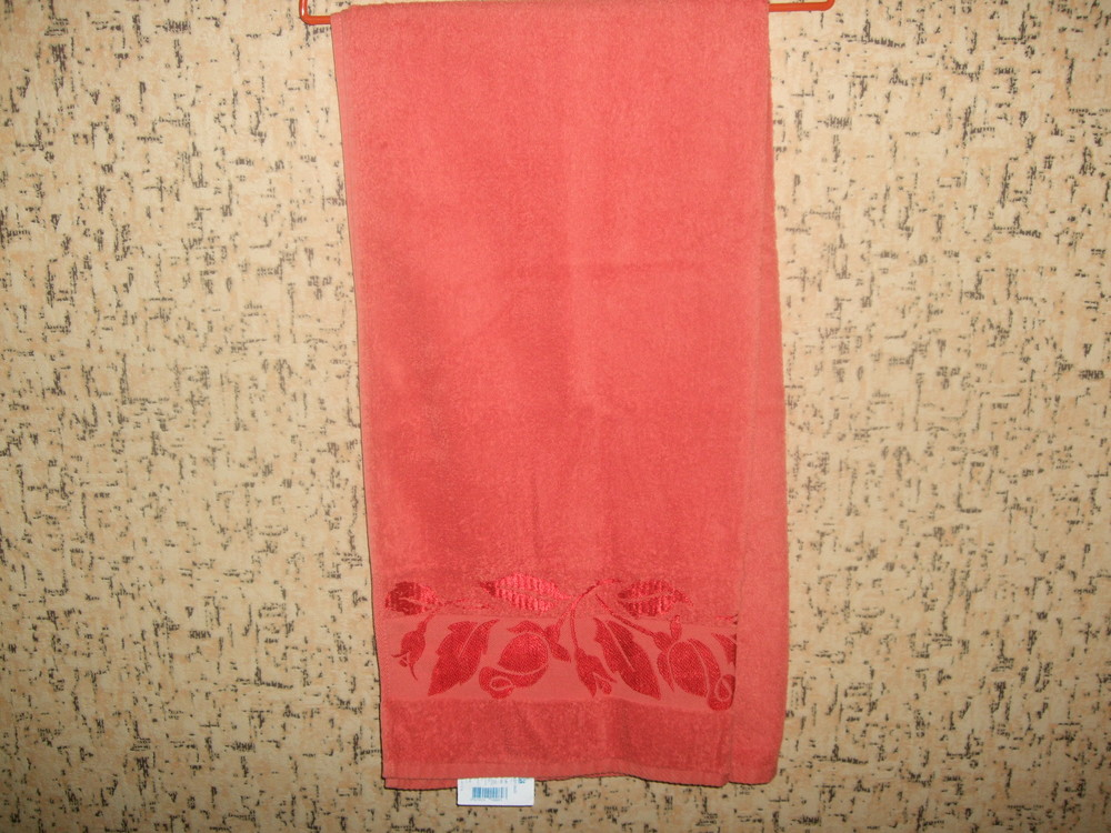 Большое махровое полотенце (баня) фото №1