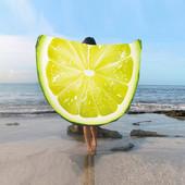 Пляжное покрывало в виде лимона