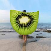 Пляжное покрывало в виде киви