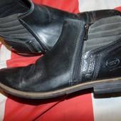 Стильние кожание брендовие ботинки деми евро зима .Bugatti (Бугатти).42-43