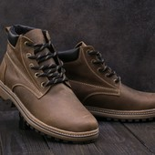 Мужские оливковые зимние кожаные ботинки Clarks, gavk-444W-M1oliv