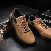 Мужские кожаные зимние ботинки Ecco, gavk-038W-M1