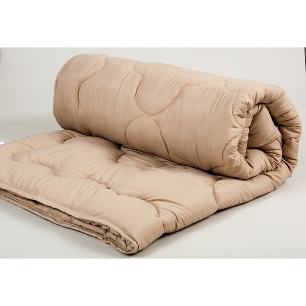 Одеяло lotus - comfort wool 195*215 кофе евро фото №1