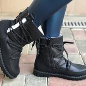 Сапоги женские ботинки Зима 2 цвета  36-41 размеры