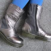 Sale Серебристые кожаные сапожки на нат. меху 29-31 р Качество Супер!