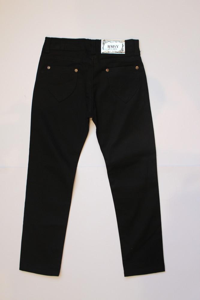 Черные джинсы для девочки, идеально для школы, турция фото №1