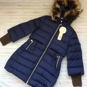 Фиолетовая стильная качественная зимняя куртка Pelin kids