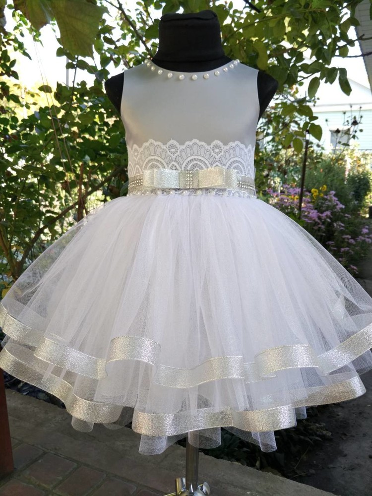 "♥ нарядное платье ""серебро"" (80-134 рр) ♥ фото №1"