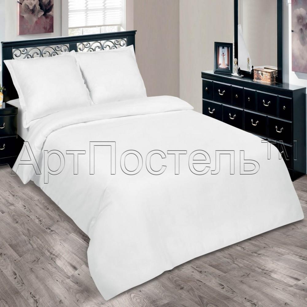 Комплект постельного белья белый подснежник , поплин фото №1