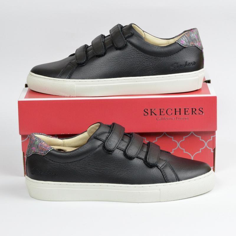 Skechers vaso чёрные кроссовки скейчерс оригинал из натуральной кожи {35/37/38} фото №1