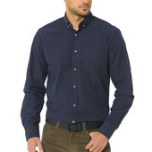 Мужская синяя рубашка LC Waikiki / лс вайкики в зеленую клетку