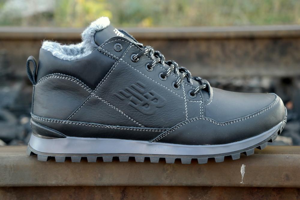 Зимние мужские кожаные кроссовки ботинки в стиле new balance , отличное  качество стильные фото №1 c9efd469480