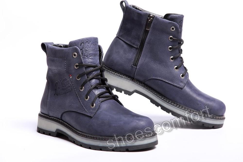 9d6d96fc Ботинки кожаные зимние hilfiger irving comfort blue m - 117, цена ...
