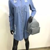 Нове стильне джинсове плаття-рубашка boohoo розм. 6 (оверсайз) в наявності