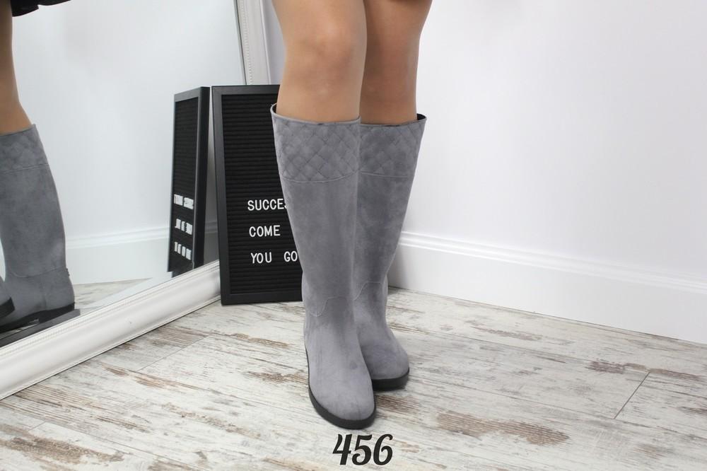 Код р455 черный, р456 серый сапожки-трубы резиновые фото №3