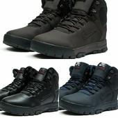 Зимние ботинки на меху в стиле Nike LunRidge, код kv-30521
