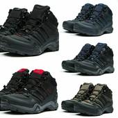 Зимние ботинки на меху в стиле Adidas Terrex Gore Tex, код kv-30511