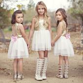 12-34 нарядное красивое детское платье на выпускной праздник утренник фотосессию 134 140 146