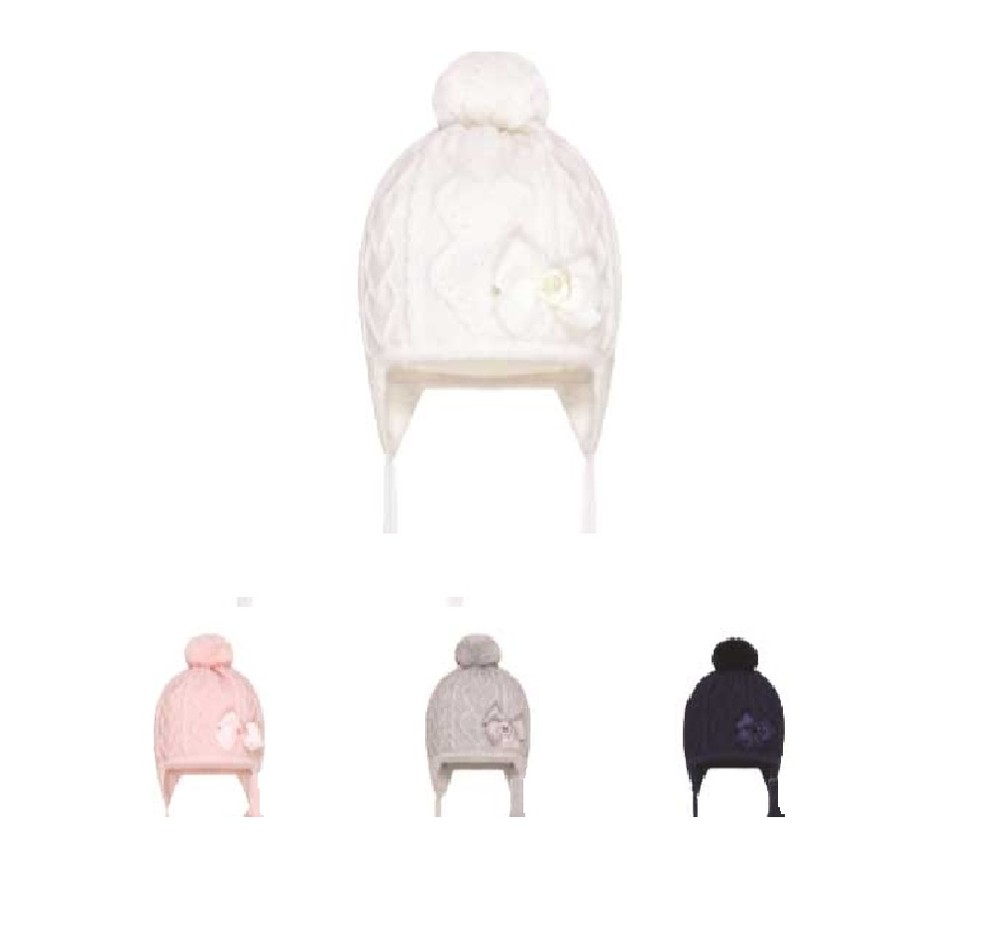 Barbaras зимняя шапка, акрил помпон 6826, от 0 до 18 мес фото №1
