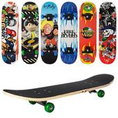 Скейт MS 0322-3 пласт. підвіска, 7 шарів, 608 Z, макс. навантаж. 45 кг, розбірний, 6 видів, 78-19,5