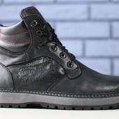 Мужские зимние ботинки из натуральной кожи на меху, код ks-4170