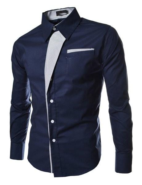 Рубашка мужская приталенная  код 2 в 4 - х цветах фото №1