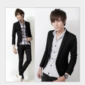 Пиджак черный молодежный. Хит! код 69