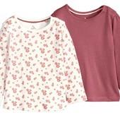 Две очаровательные футболки на девочку от Lupilu, 62/68 см