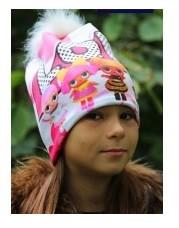 Шапка куколки лол lol  підкладка фліс для дівчинки фото №1