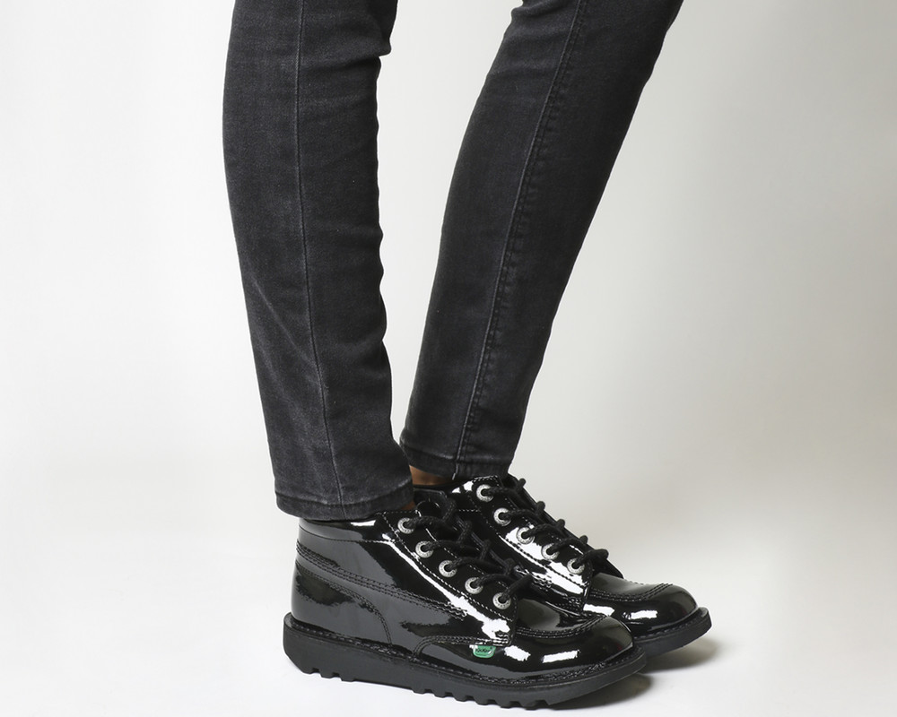 Высокие ботинки kickers kick hi кожа лак 37 размер (оригинал) фото №1