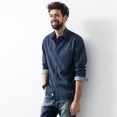 Шикарная рубашка L 52-54 евро Тсм Tchibo.