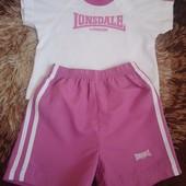 Бронь! Костюм Lonsdale для малышки 12-18 месяцев.Футболка+шорты.