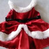 Платье новогоднее для собаки