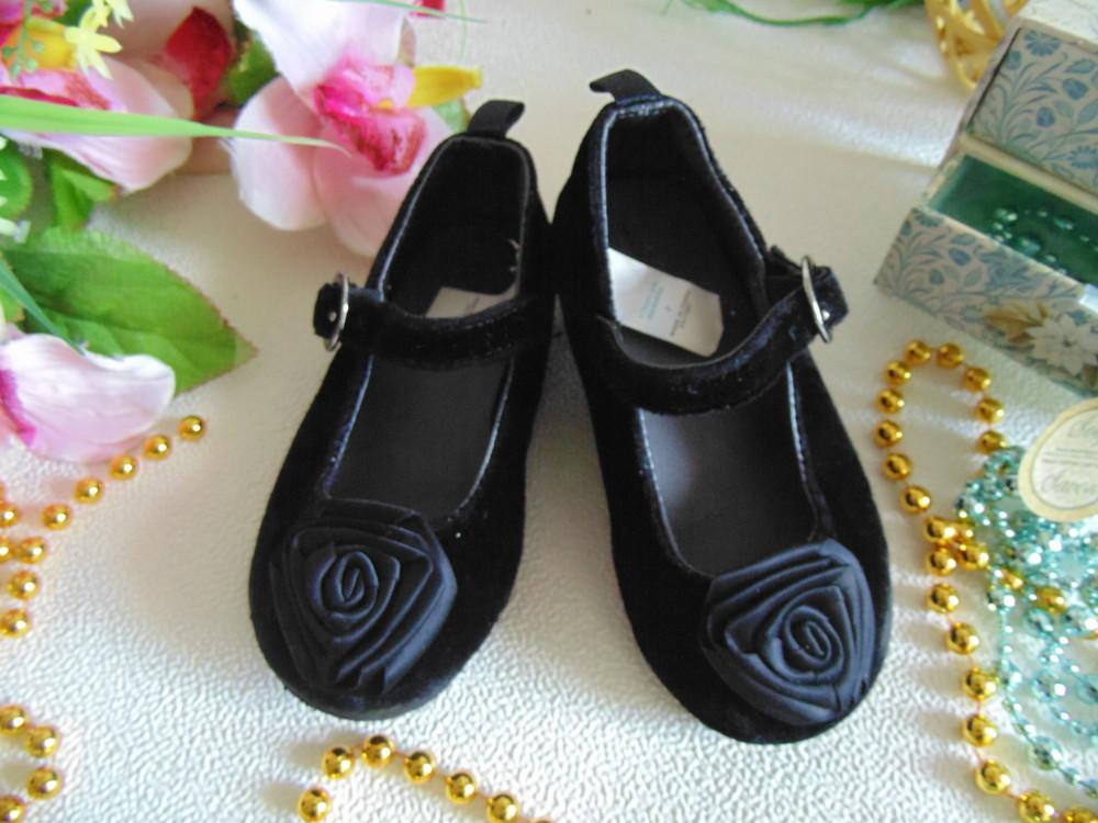 Бархатные туфельки gap 7(23р),ст 14,5см.мега выбор обуви и одежды! фото №1