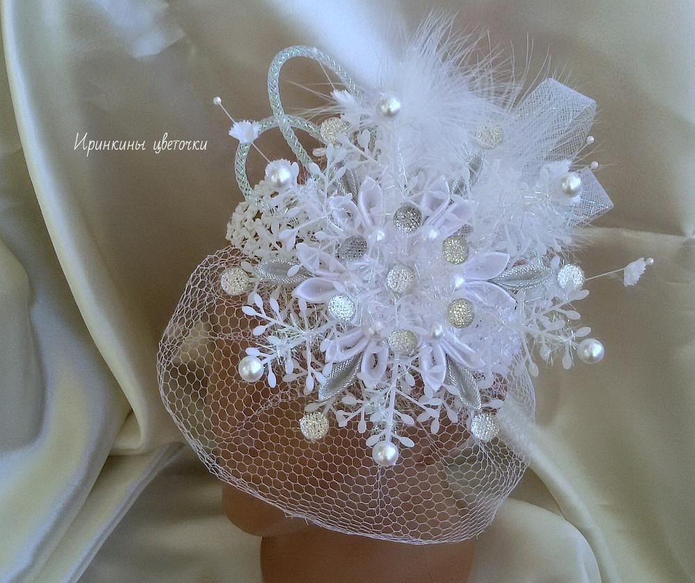 Роскошная снежинка-вуалетка фото №1